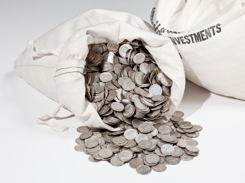 buying bags of coins from banks