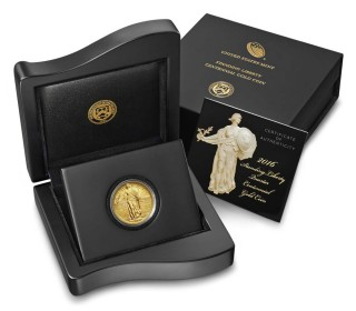2016 Standing Liberty Quarter Gold Centennial Commemorative Coin Excites Coin Collectors