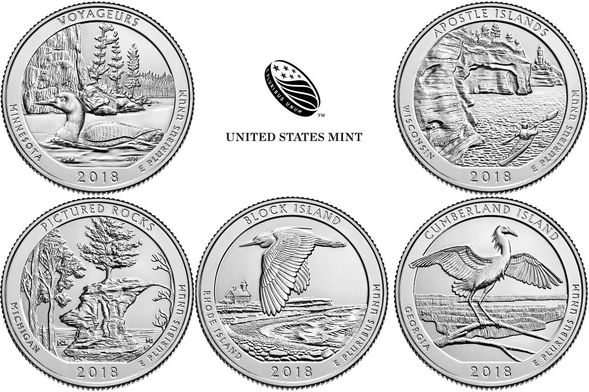 what�s on the 2018 america the beautiful quarters the