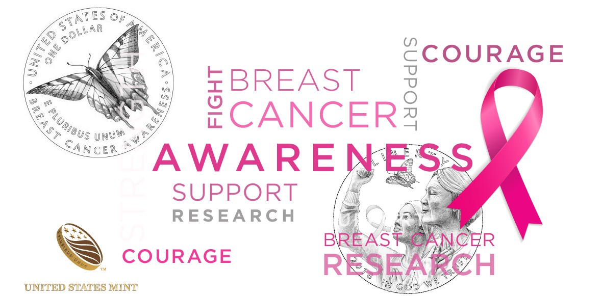 Breast Cancer Pink Gold Commemorative Coins Others