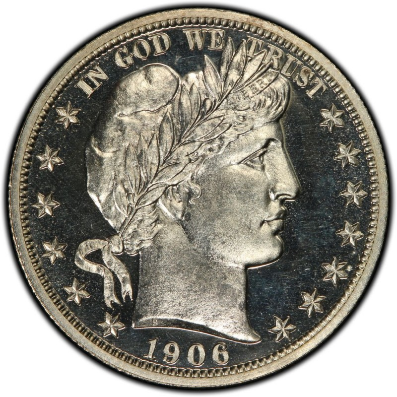 1906 Barber Half Dollar Values and Prices - Past Sales CoinValues ...