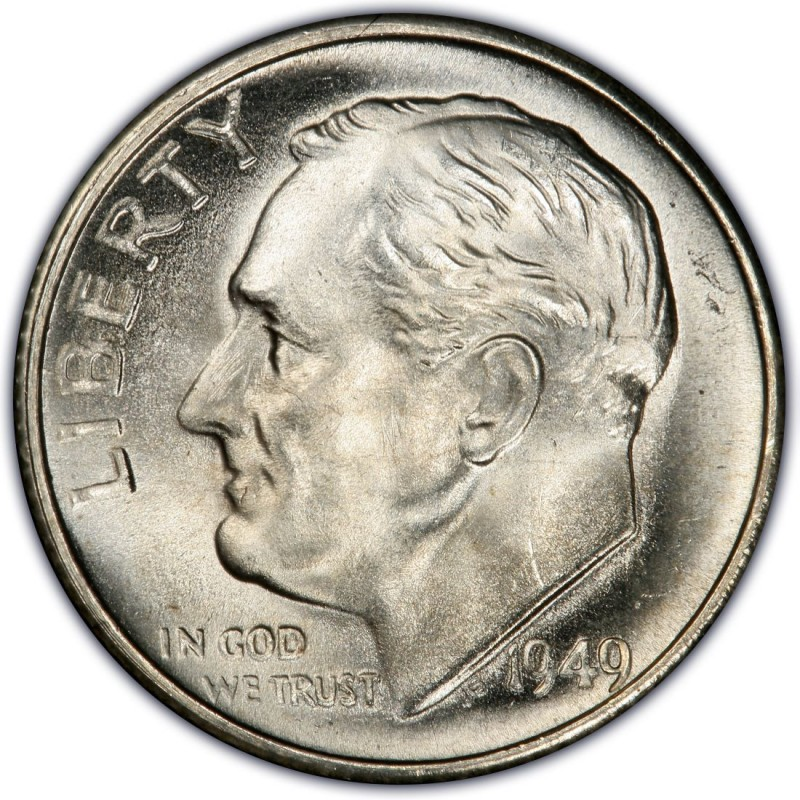 1949 Roosevelt Dime Values And Prices Past Sales
