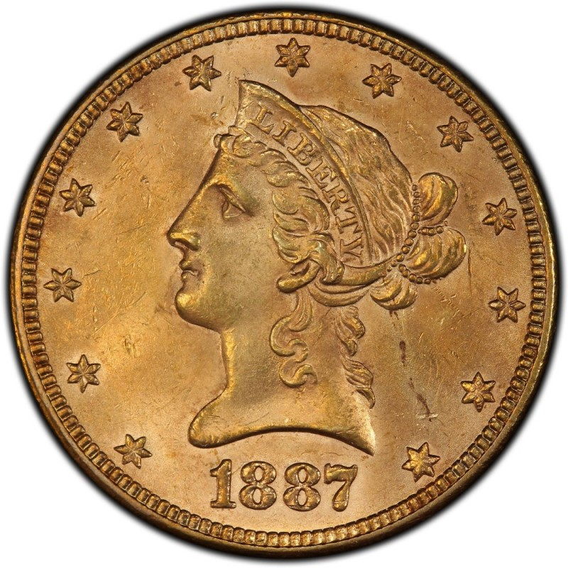 1887 Liberty Head 10 Gold Eagle Values And Prices Past