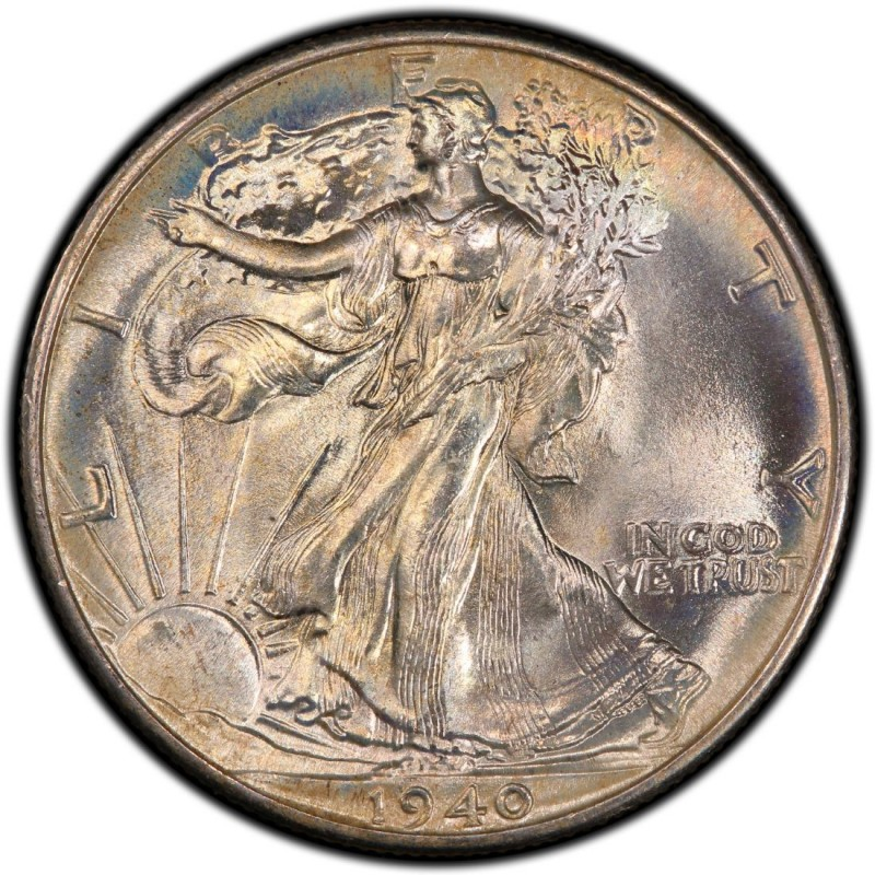 1940 Walking Liberty Half Dollar Values And Prices Past