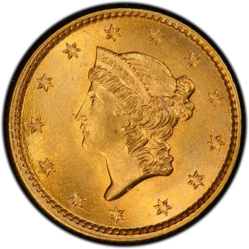 1854 Liberty Head Gold 1 Coin Values And Prices Past
