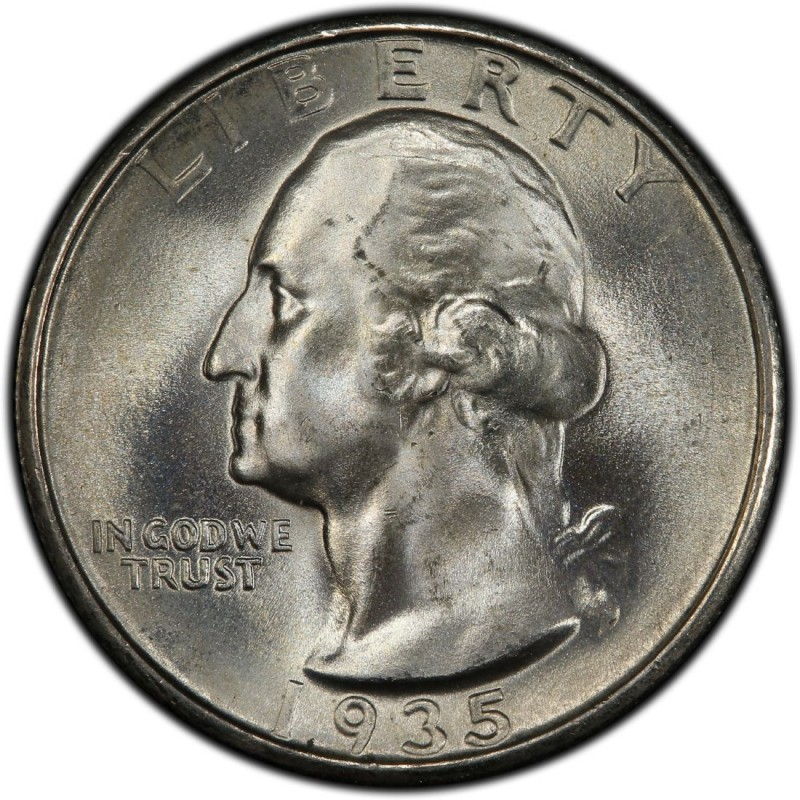 1935 Washington Quarter Values And Prices Past Sales