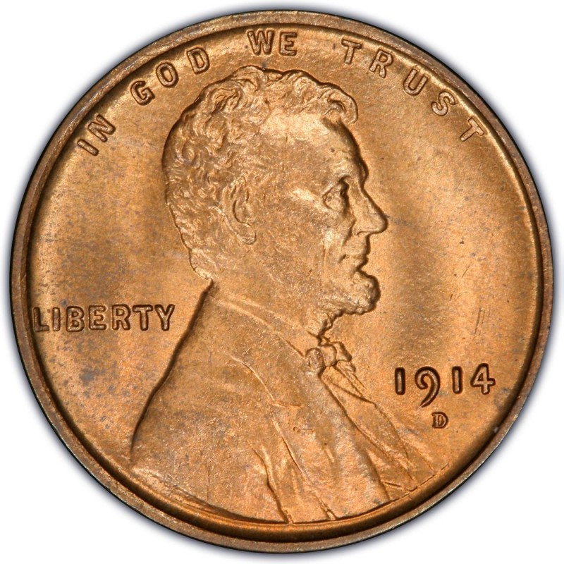 1914 Lincoln Wheat Pennies Values and Prices - Past Sales