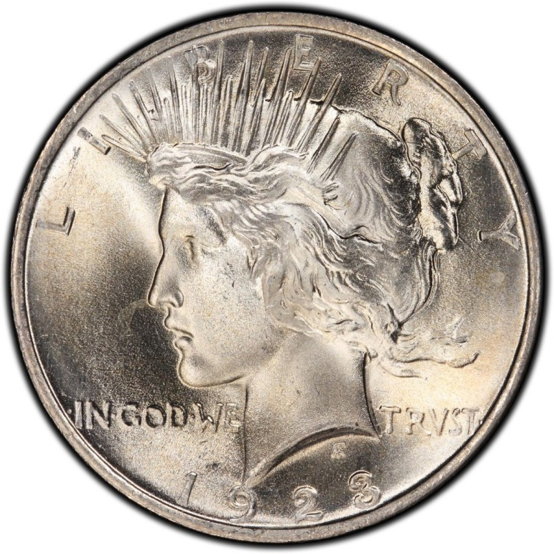 1923 Peace Dollar Values And Prices Past Sales