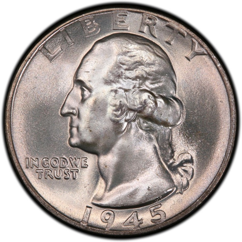 1945 Washington Quarter Values and Prices - Past Sales