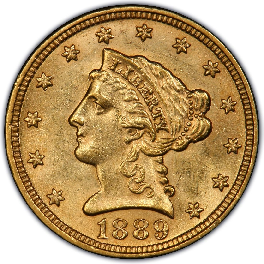 1889 Liberty Head 2 50 Gold Quarter Eagle Coin Values And