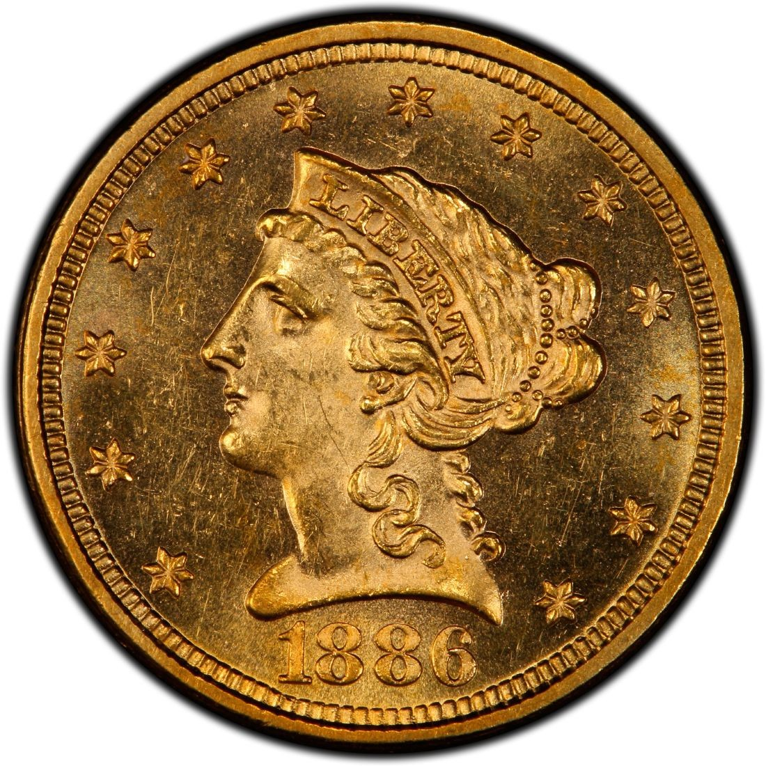 1886 Liberty Head 2 50 Gold Quarter Eagle Coin Values And