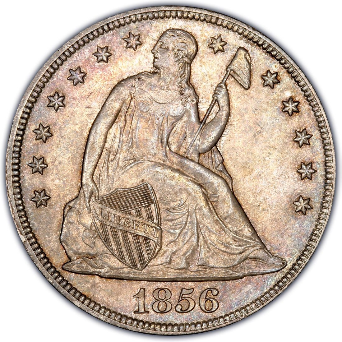 1856 Seated Liberty Silver Dollar Values And Prices Past