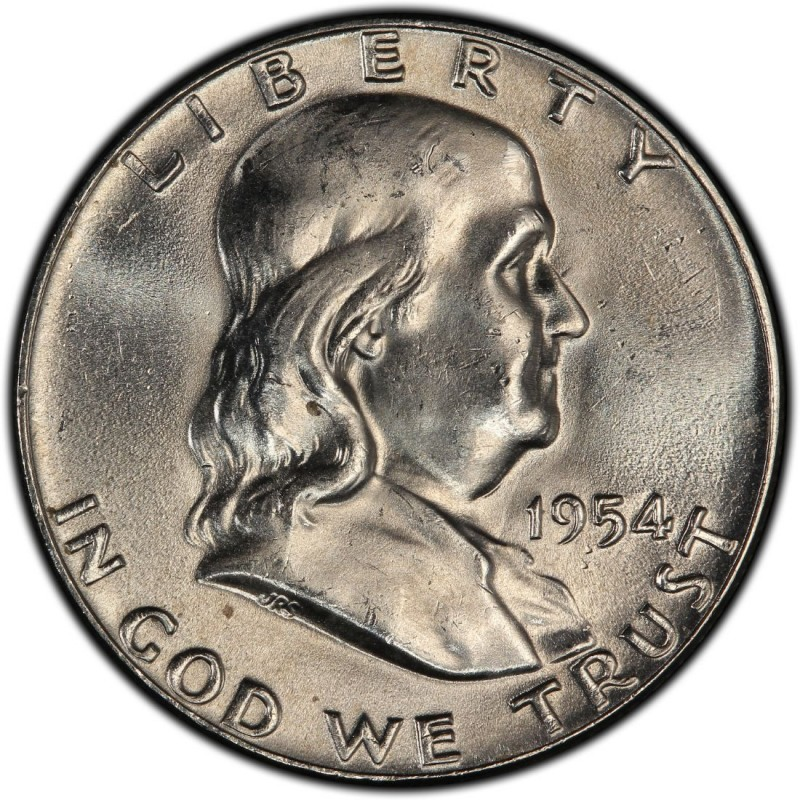 1954 Franklin Half Dollar Values And Prices Past Sales