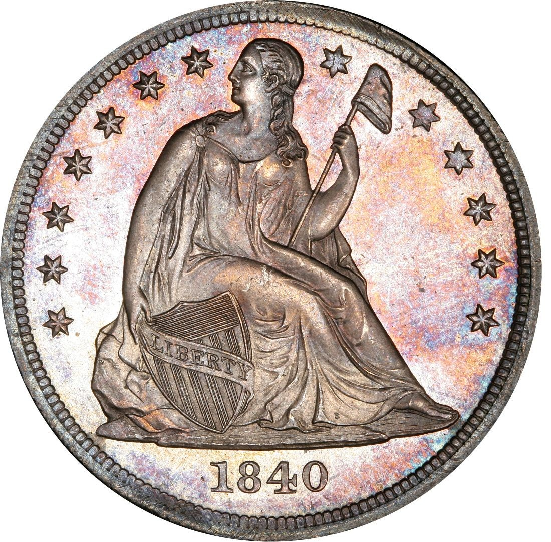 1840 Seated Liberty Silver Dollar Values And Prices Past