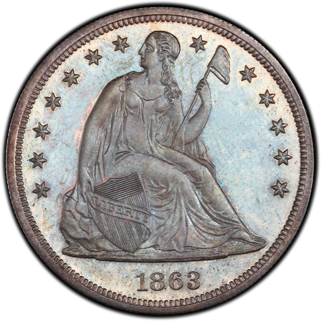 1863 Seated Liberty Silver Dollar Values And Prices Past