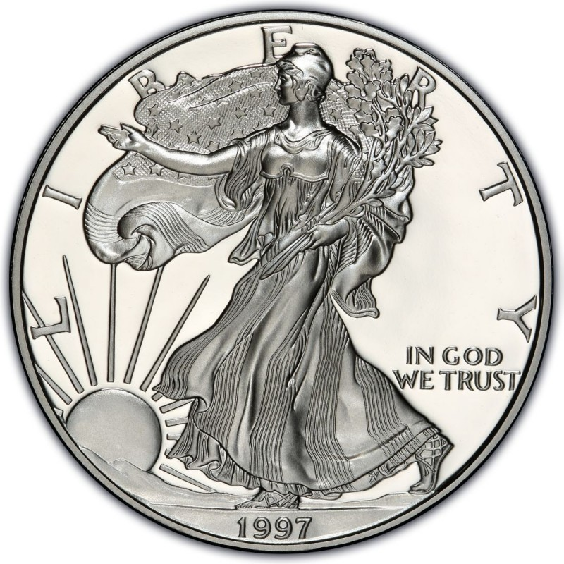 1997 American Silver Eagle Values And Prices Coinvalues Com