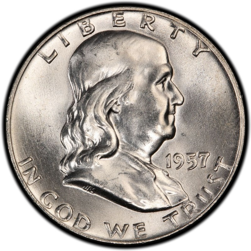 1957 Franklin Half Dollar Values And Prices Past Sales