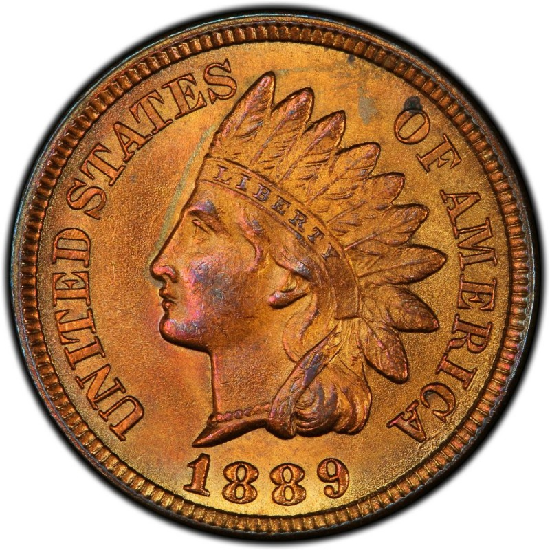 1889 Indian Head Pennies Values And Prices Past Sales