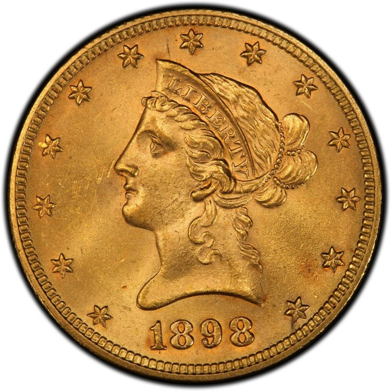 1898 Liberty Head $10 Gold Eagle Values and Prices - Past