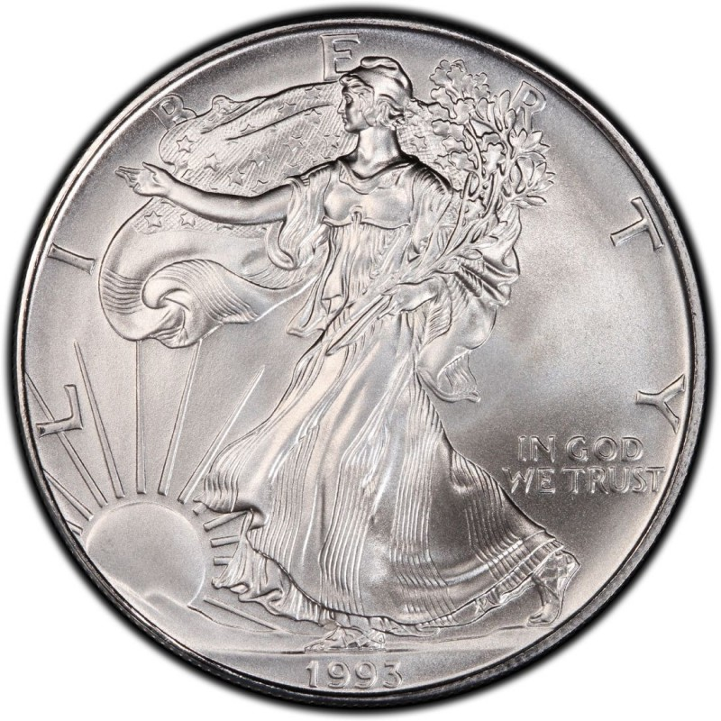 1993 American Silver Eagle Values And Prices Coinvalues Com