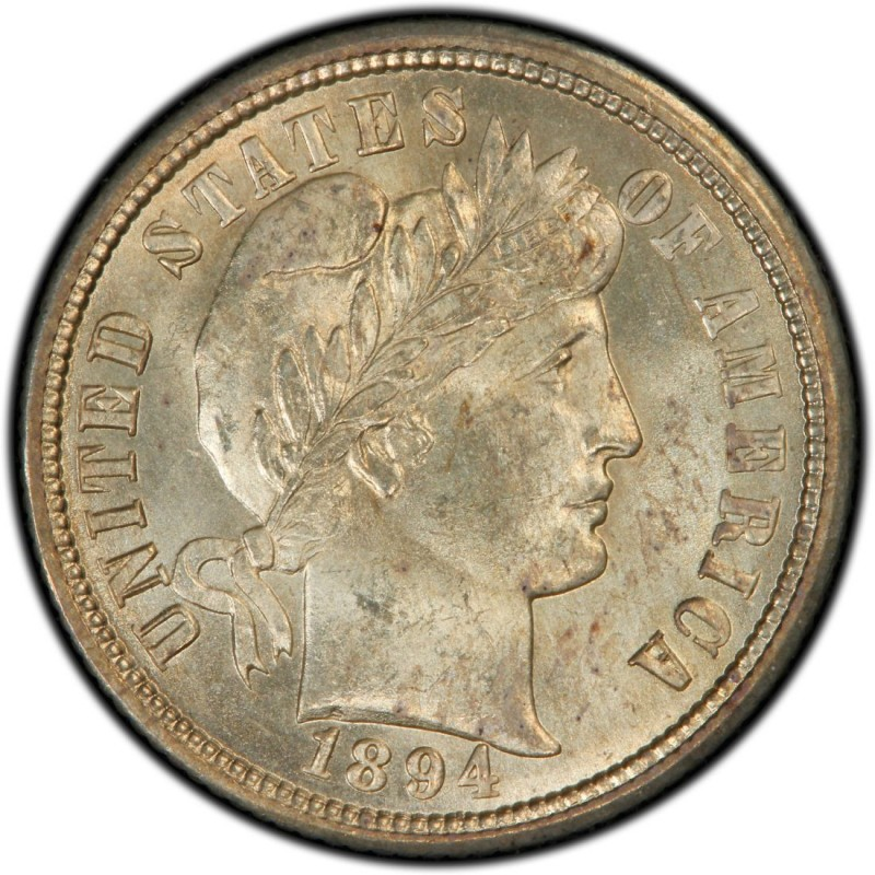 1894 Barber Dime Values And Prices Past Sales