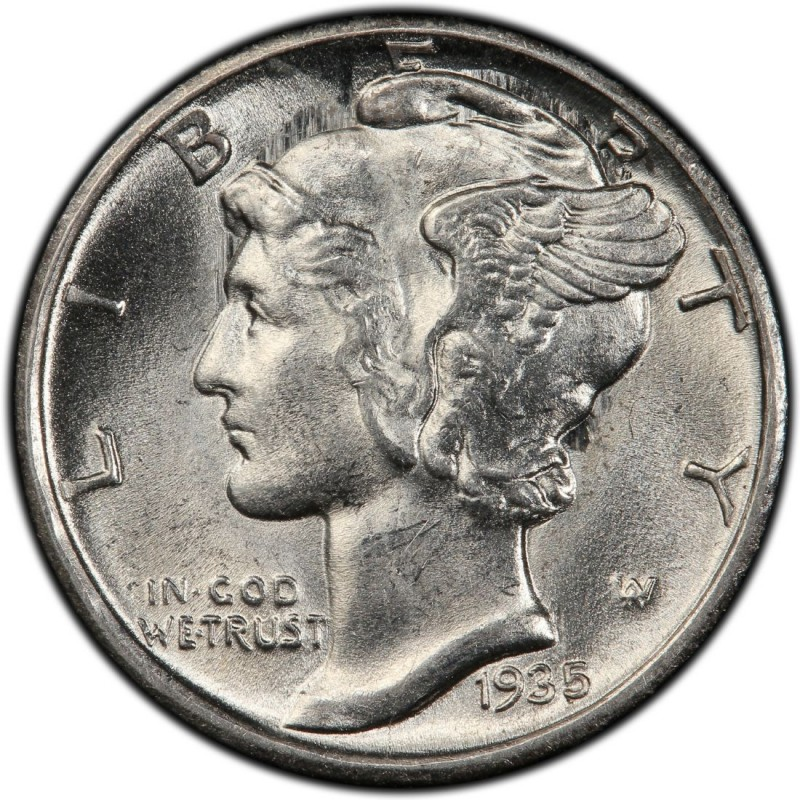 1935 Mercury Dime Values And Prices Past Sales
