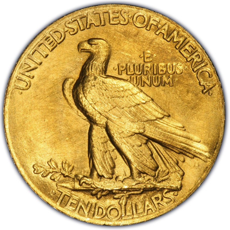 1907 Indian Head Gold 10 Eagle Values And Prices Past