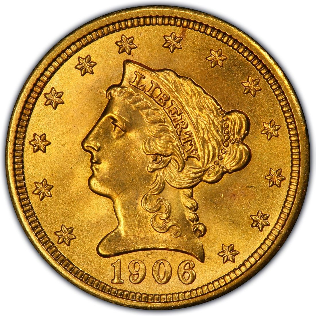 1906 Liberty Head $2 50 Gold Quarter Eagle Coin Values and