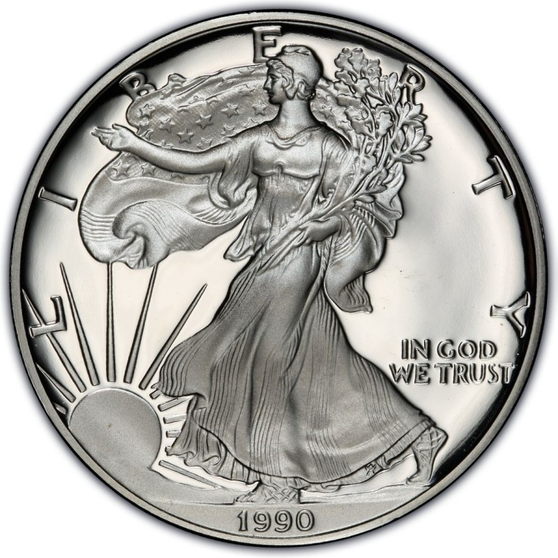1990 American Silver Eagle Values And Prices Coinvalues Com