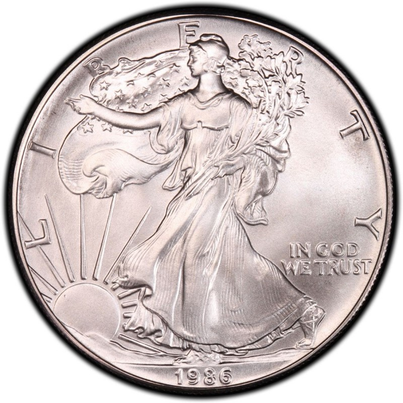 1986 American Silver Eagle Values And Prices Coinvalues Com