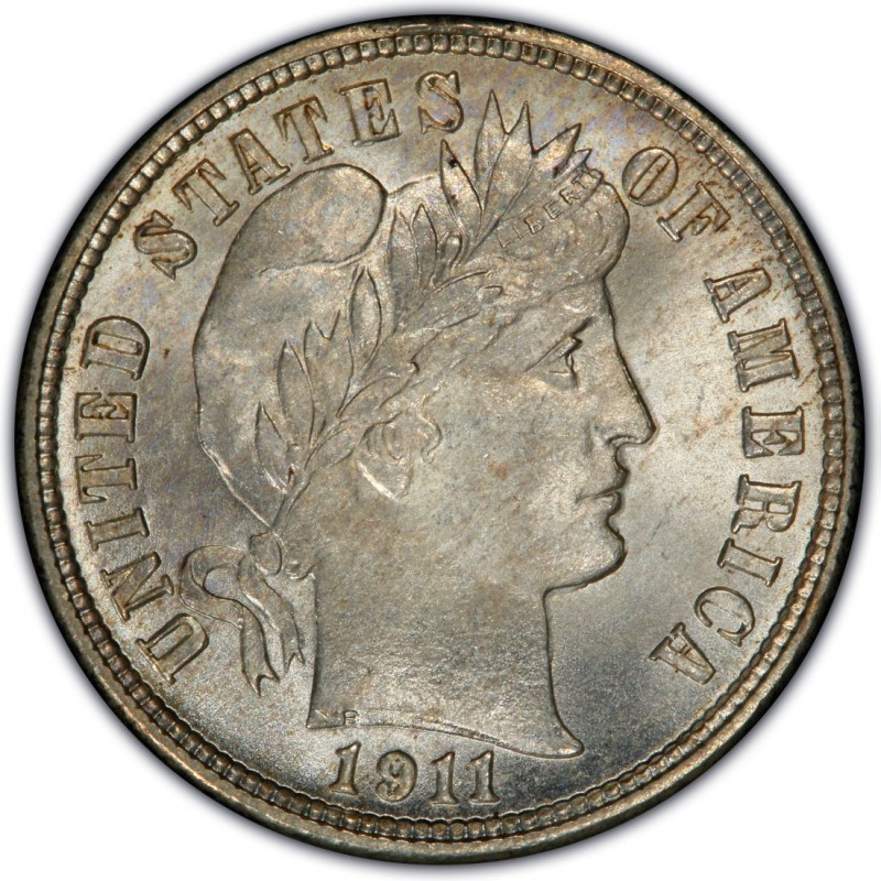 1911 Barber Dime Values And Prices Past Sales