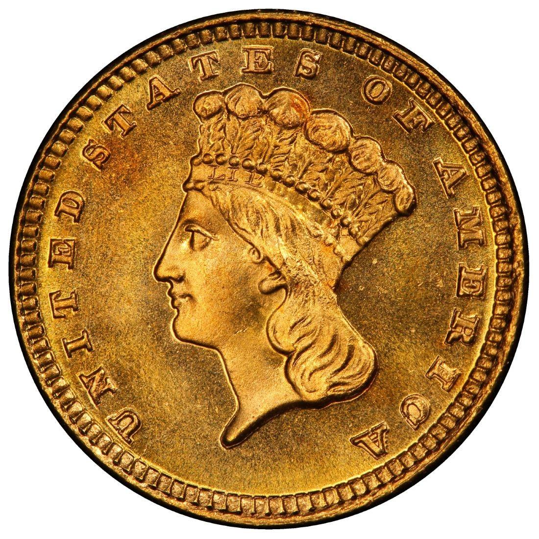 indian princess gold dollar coin