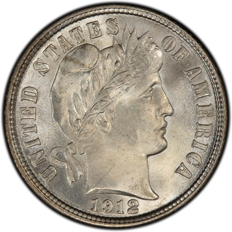 1912 Barber Dime Values And Prices Past Sales