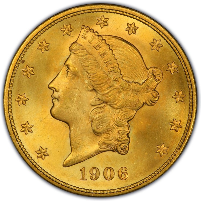 1906 Liberty Head Double Eagle Values and Prices - Past Sales