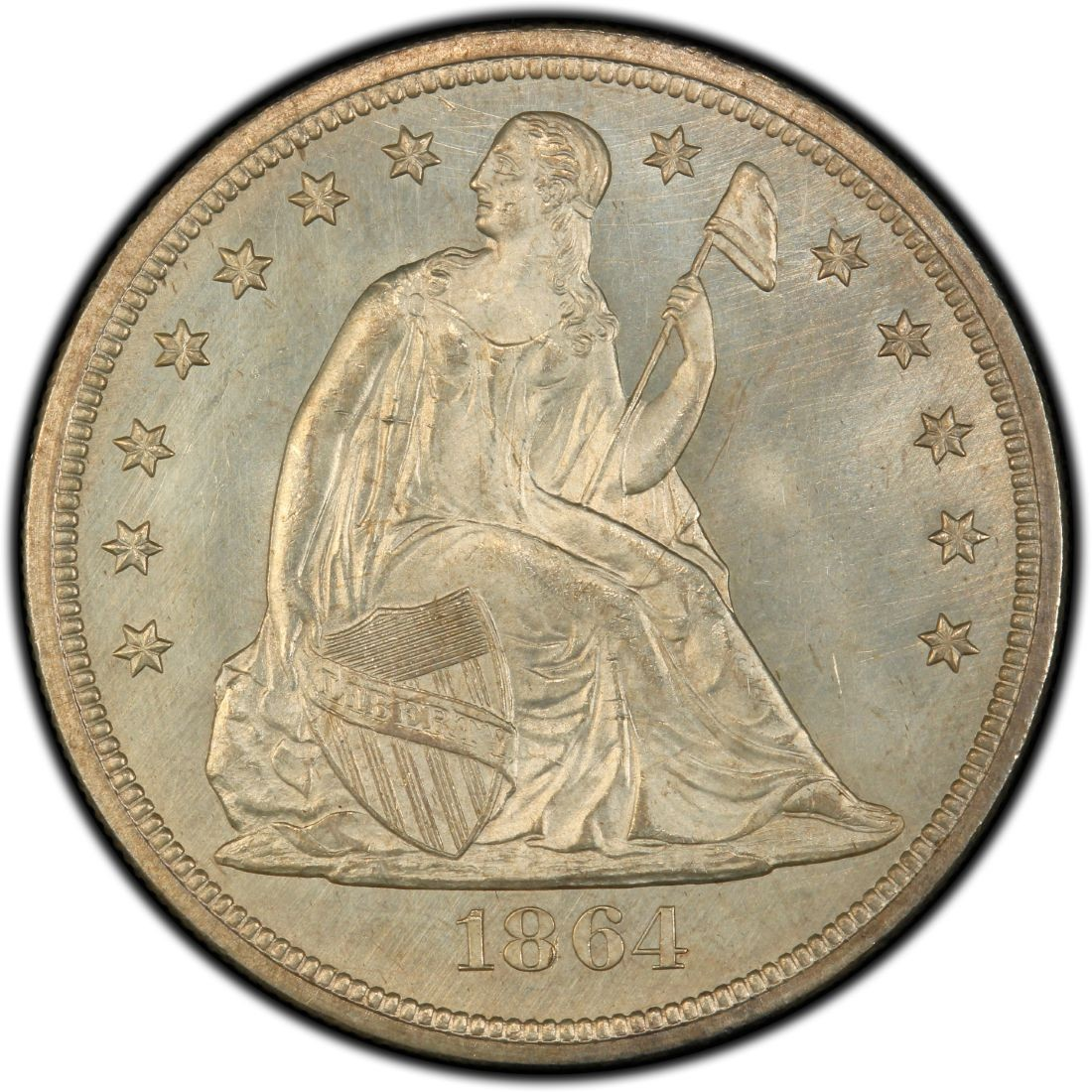 1864 Seated Liberty Silver Dollar Values And Prices Past