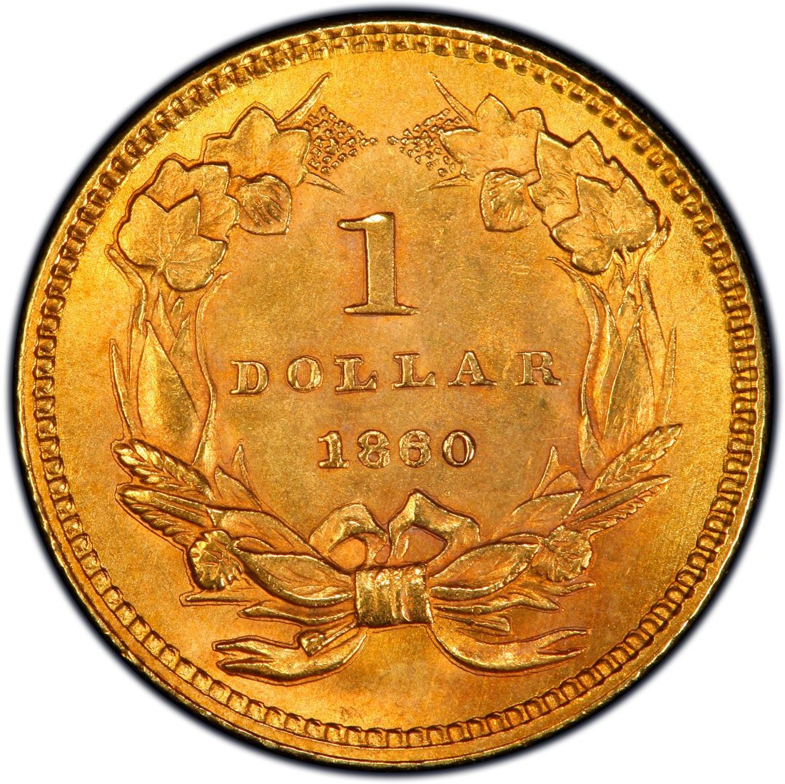 1860 Large Head Indian Princess Gold Dollar Values