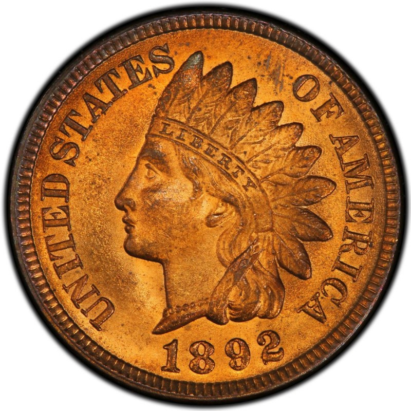 Good US Coin 1892 Indian Head Cent Penny