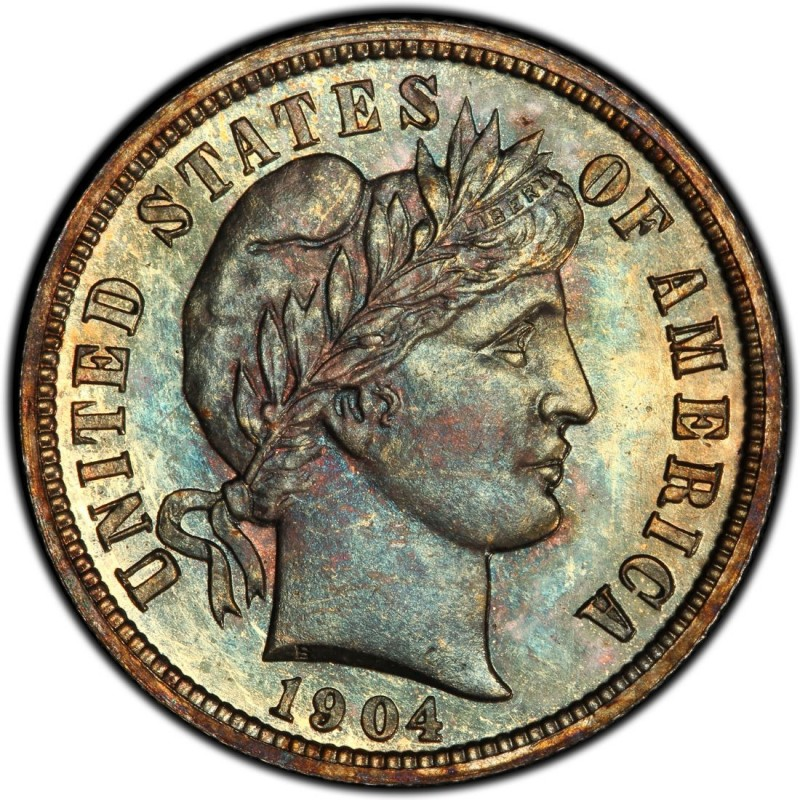 1904 Barber Dime Values And Prices Past Sales