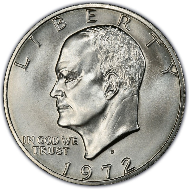 1972 Eisenhower Dollar Values And Prices Past Sales Coinvalues
