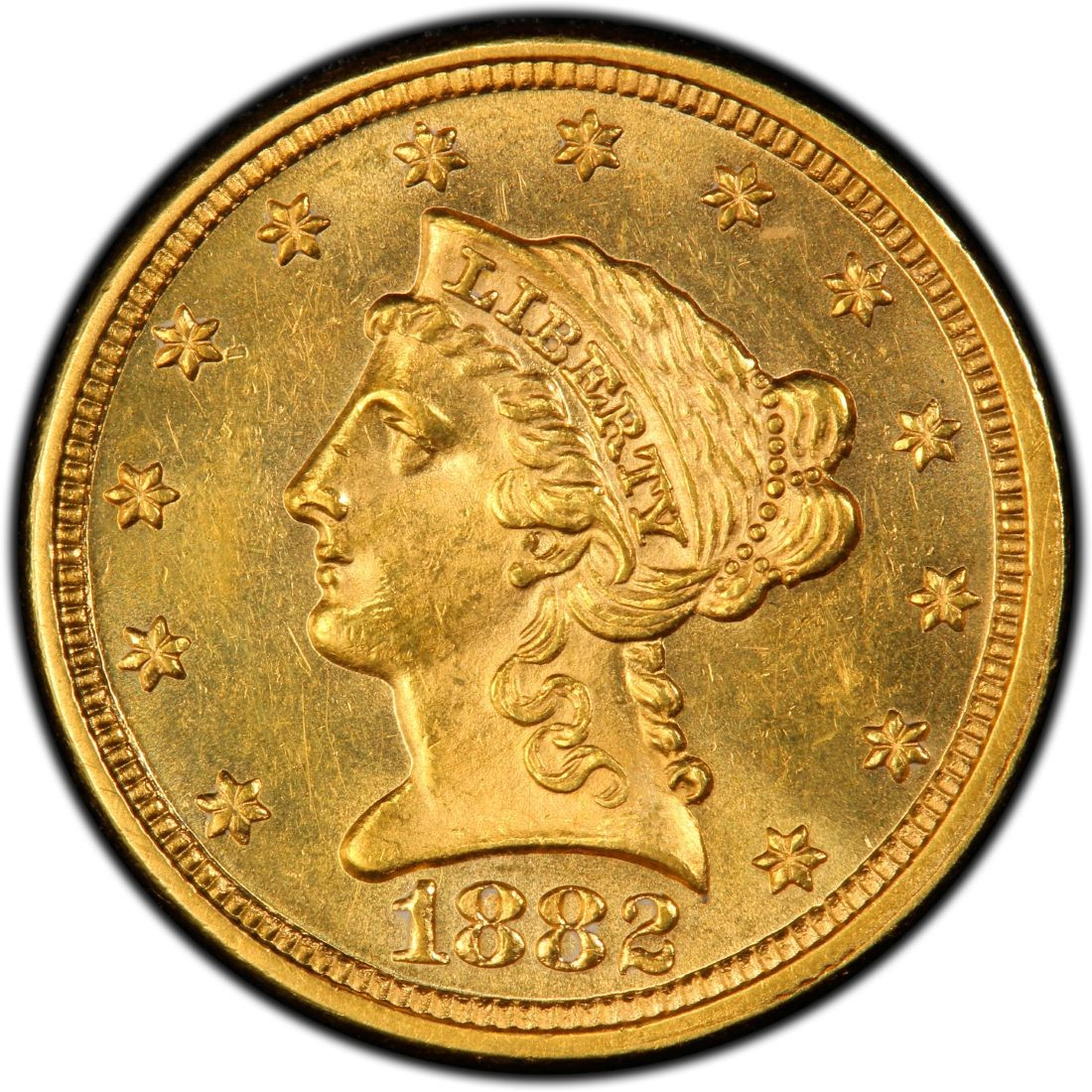 1882 Liberty Head 2 50 Gold Quarter Eagle Coin Values And