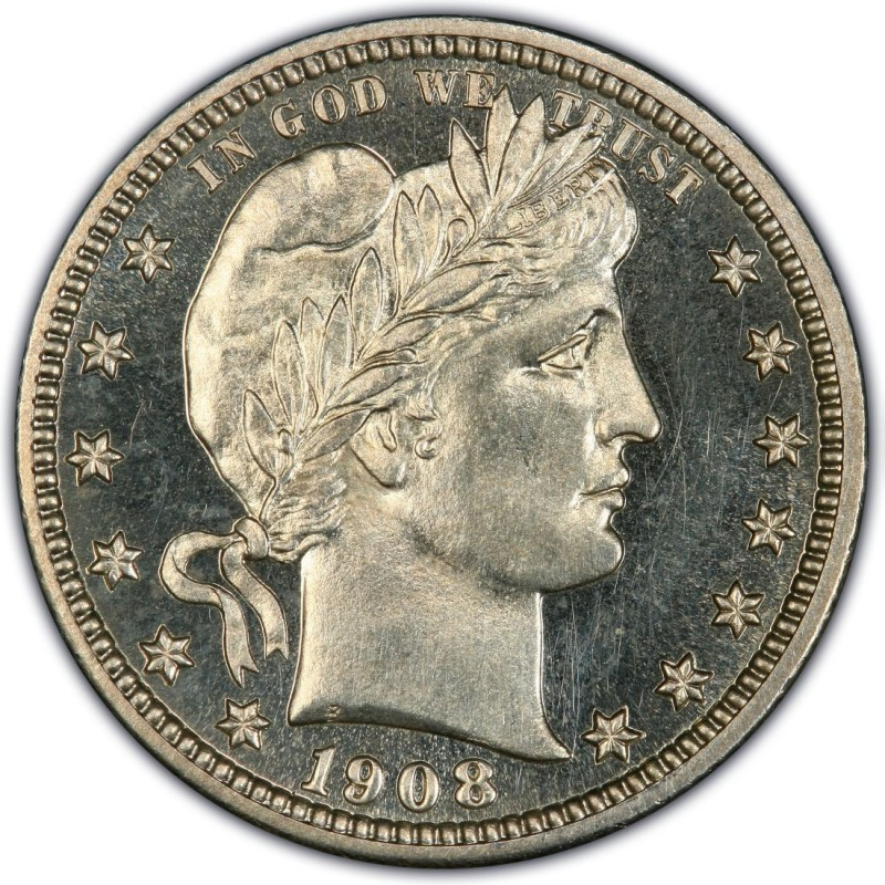 1908 Barber Quarter Values And Prices Past Sales