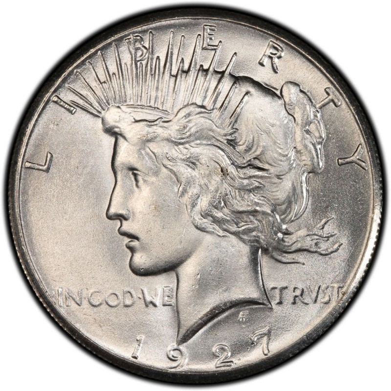 1927 Peace Dollar Values And Prices Past Sales