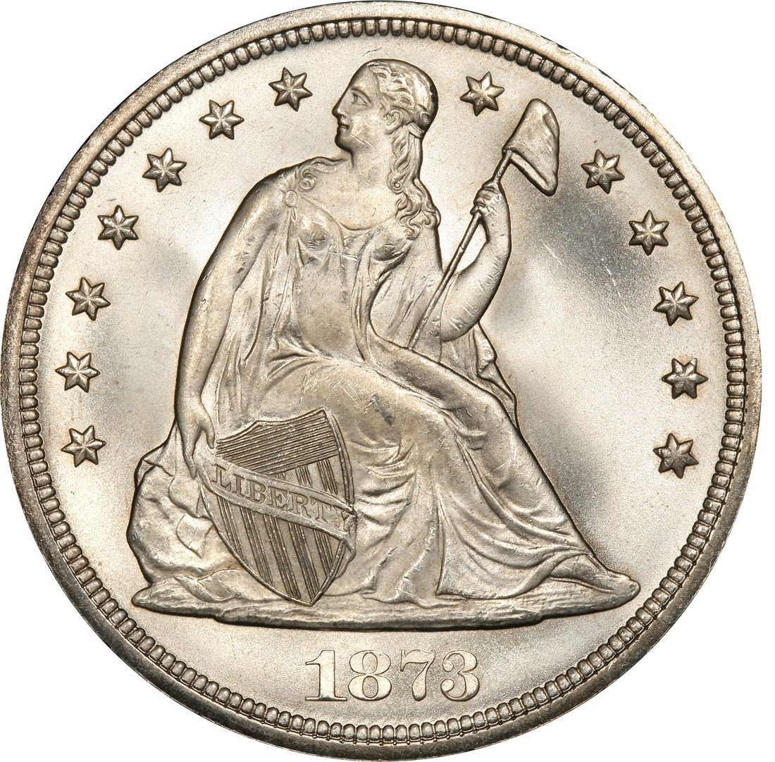 1873 Seated Liberty Silver Dollar Values And Prices Past