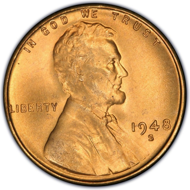 1948 lincoln wheat pennies values and prices past sales 1948 lincoln wheat pennies publicscrutiny Images