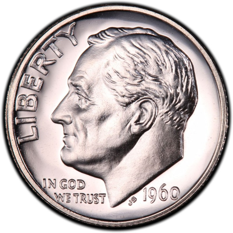 1960 Roosevelt Dime Values And Prices Past Sales