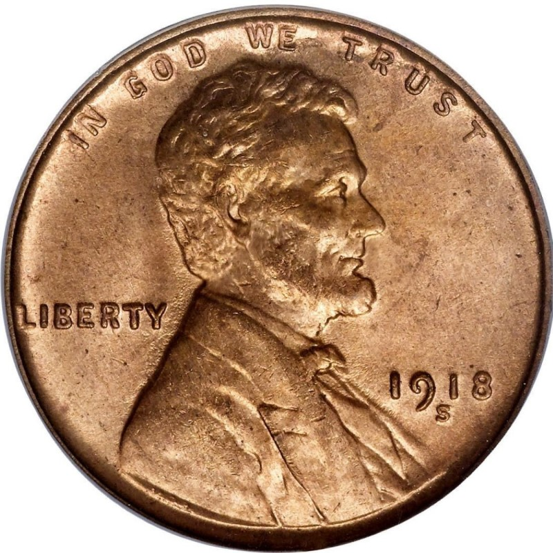1918 Lincoln Wheat Pennies