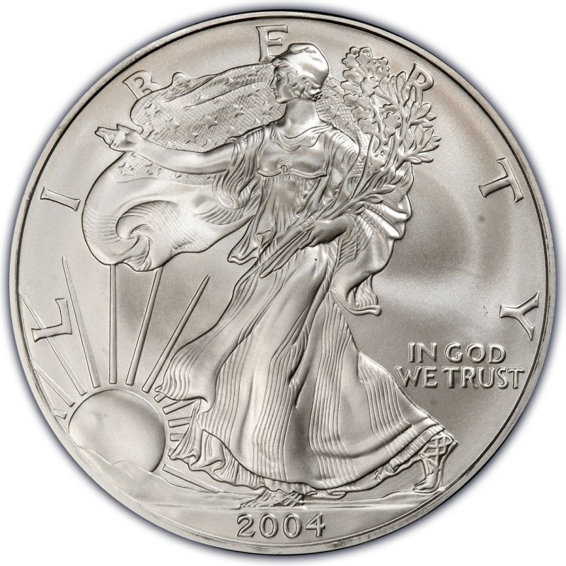 2004 American Silver Eagle Values And Prices Coinvalues Com
