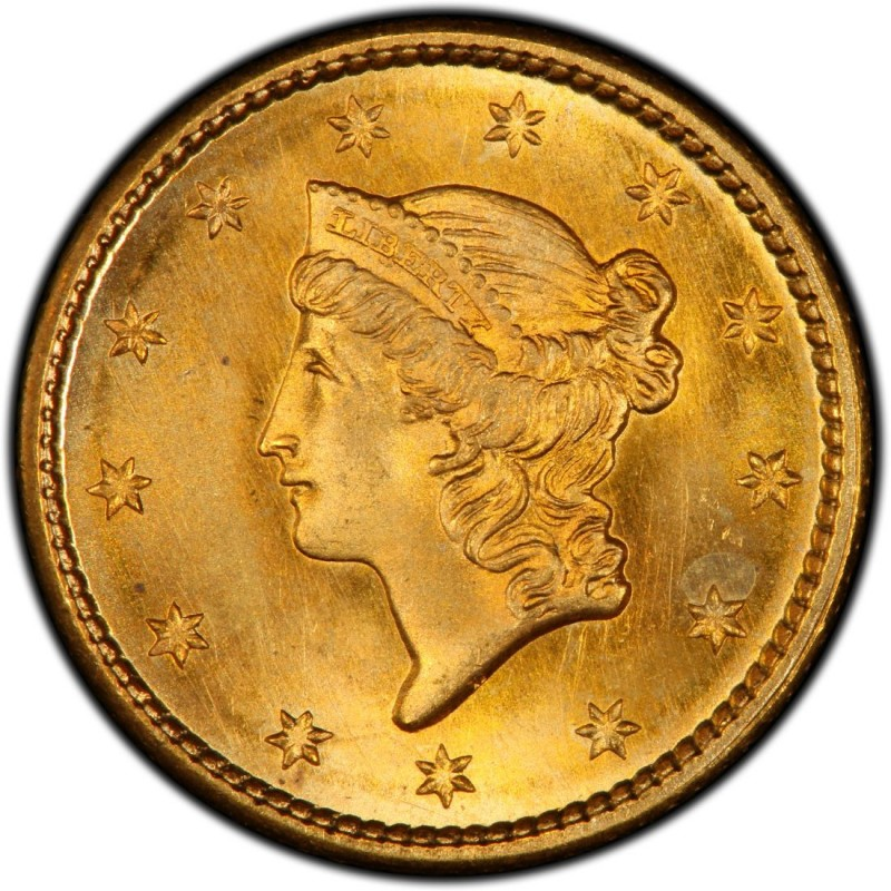 Old Liberty Coins 1850 Liberty Head Gold $1 Coin