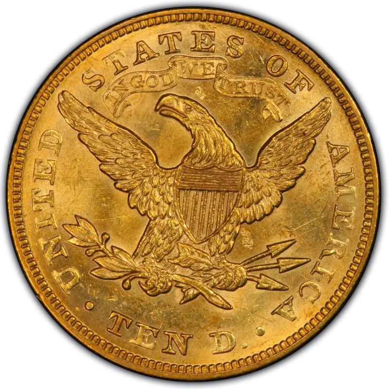 1874 Liberty Head 10 Gold Eagle Values