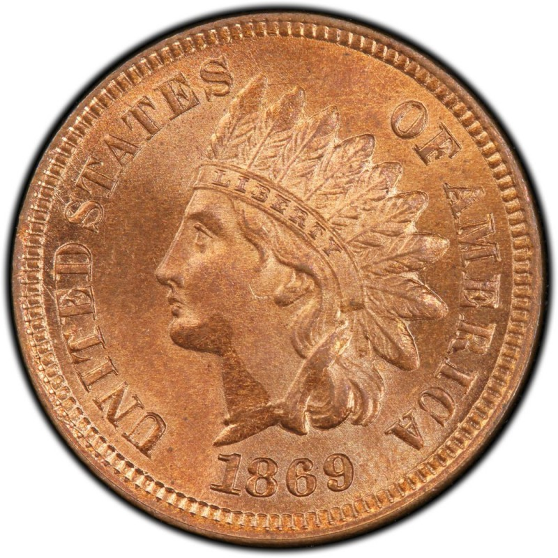 1869 Indian Head Pennies Values And Prices Past Sales